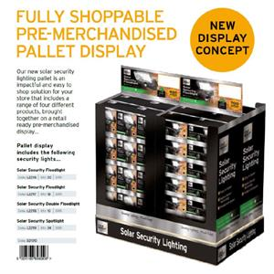 Inlading Cole&Bright Solar Security pallet display