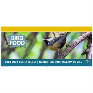 Kopkaart Bird food voer  28x68 (1)